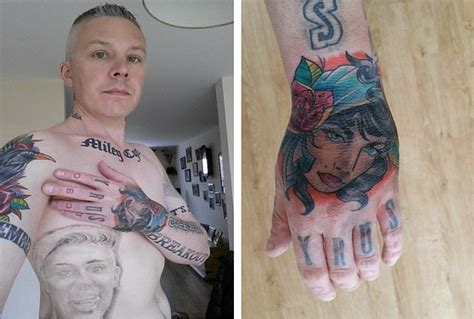 miley cyrus tattoo guy says his 29 miley cyrus tattoos are stopping him