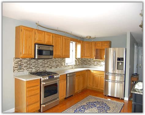 Kitchen Color Ideas With Oak Cabinets kitchen paint colors with oak cabinets home design ideas