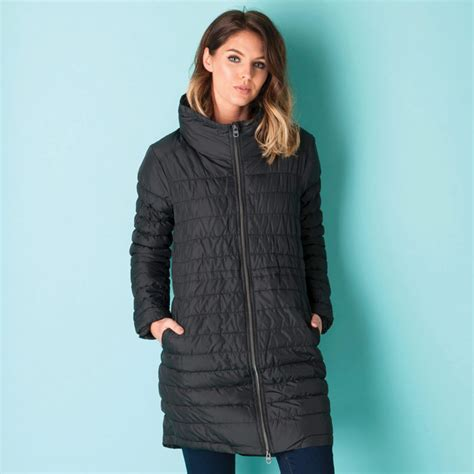 Stand Collar Padded Coat buy bench womens longline padded coat with stand collar in