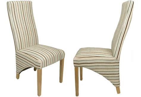 Chenille Dining Chairs Shankar Baxter Dining Chairs Oak Legs Stripe Chenille Velvet Sets Of 2 4 Or 6