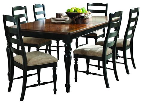 homelegance mckean 7 dining room set in black and