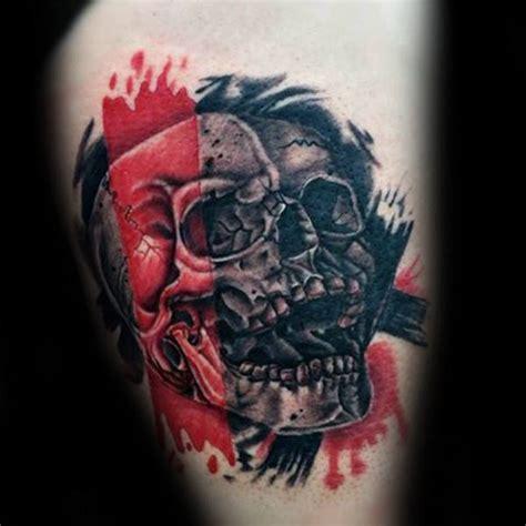 polka dot tattoo designs 100 trash polka tattoos for masculine design ideas