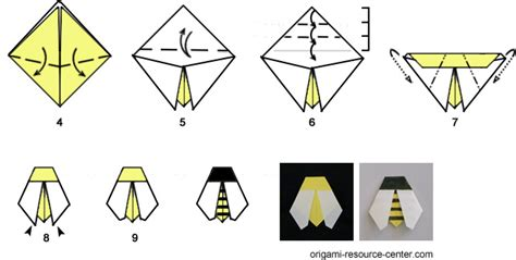 How To Make A Paper Bee - easy origami bee