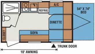 best travel trailer floor plans kz rv spree escape e14rbt floorplan prowler 5th wheel