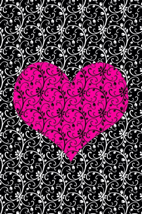 black pink heart black and pink hearts wallpaper www imgkid com the