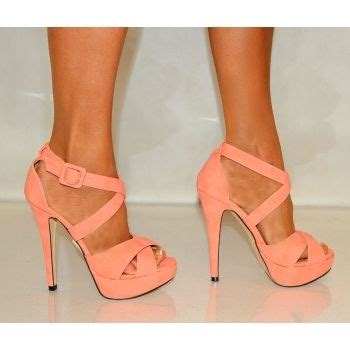 coral high heels koi couture j5 coral strappy high heels fashion