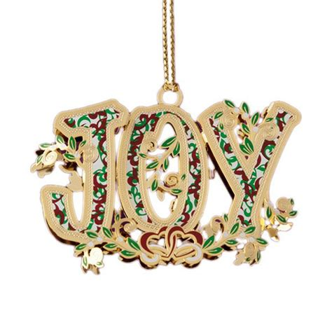 2015 chemart joy brass christmas ornament