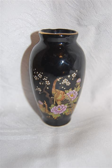 Vase Japanese by Black Japanese Vase With Peacock And By Bohemianangel
