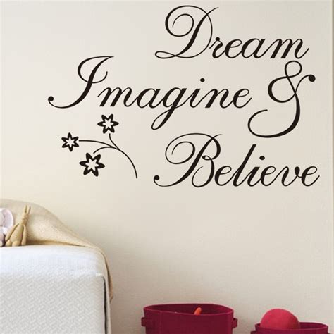 free shipping inspirational words believe removable