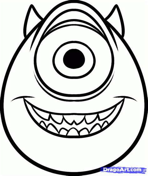 Easy To Draw Characters by How To Draw Mike Wazowski Easy Step By Step Disney