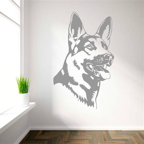 home decor vinyl wall art aliexpress com buy removable german shepherd alsation
