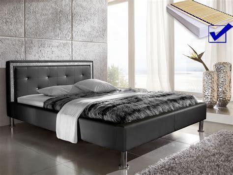 günstige betten 180x200 mit lattenrost und matratze polsterbett dave 140x200 schwarz lattenrost matratze