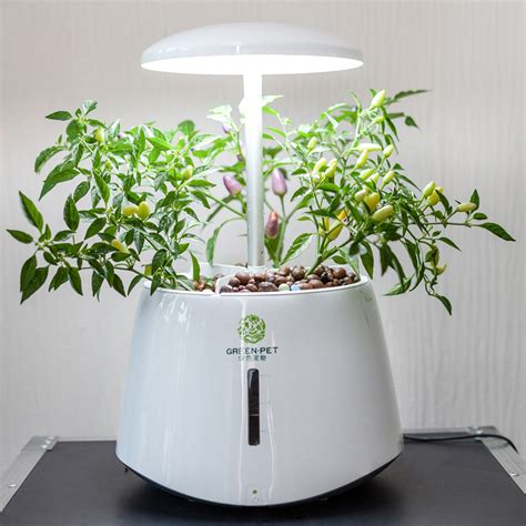 indoor herb garden with light automatic hydroponic plant growth machine led grow lights