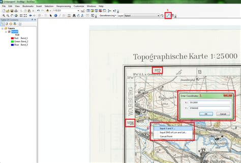tutorial georeferencing arcgis digital geography