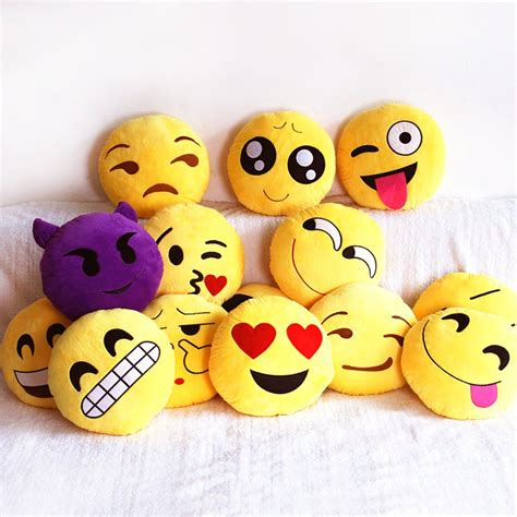 couch emoji emoji decorative throw pillow stuffed smiley cushion home