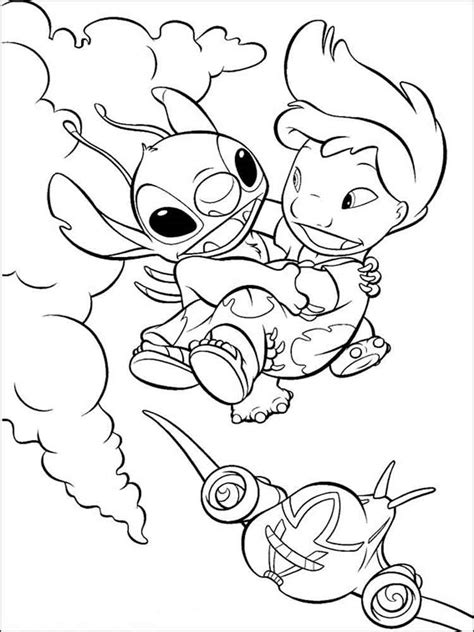 color stitch lilo and stitch coloring pages and print lilo
