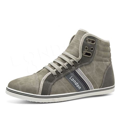 designer sneakers mens mens designer hi high tops ankle trainers boots flat