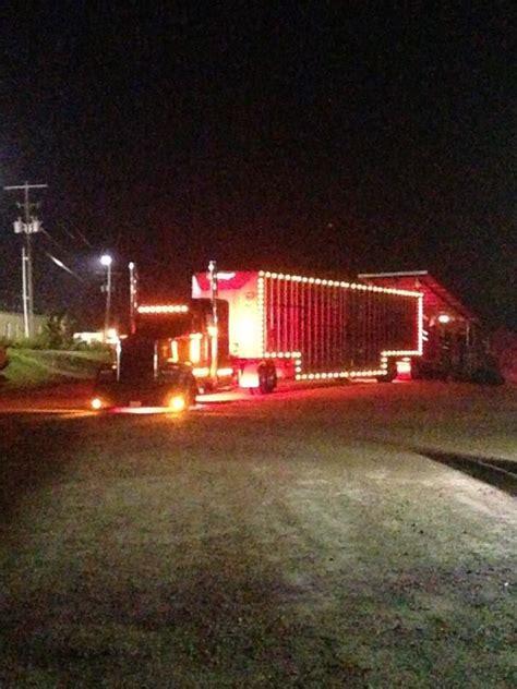 cattle trailer lighted sign kevin hurt s lit up kenworth and merritt bullhauler