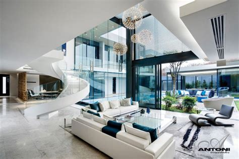 modern house living room sparkling glass house in johannesburg twinkles with glittering contemporary features