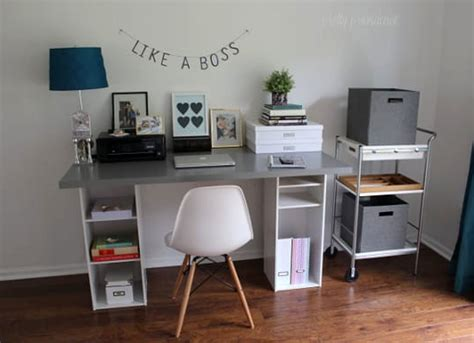 Diy Office Desk Ideas Diy Desk With Cubbies Diy Desk 15 Easy Ways To Build Your Own Bob Vila