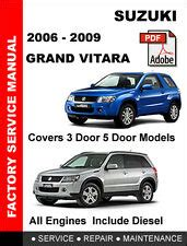 free auto repair manuals 1999 suzuki vitara navigation system suzuki grand vitara repair manual ebay