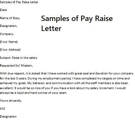 Sle Letter Requesting Raise Promotion Pay Rise Request Letter Requesting A Pay Raise Requires Careful Preparation Before The