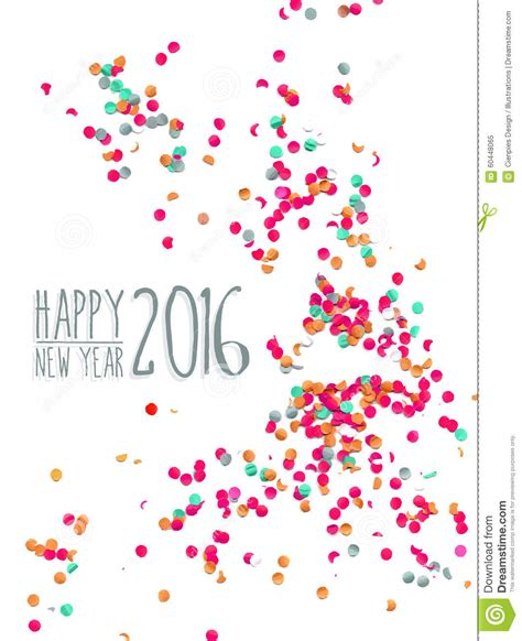 new year printable posters happy new year 2016 confetti background stock vector