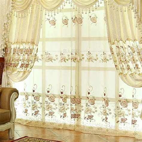 white vintage curtains thick floral lace white suede polyester vintage curtains