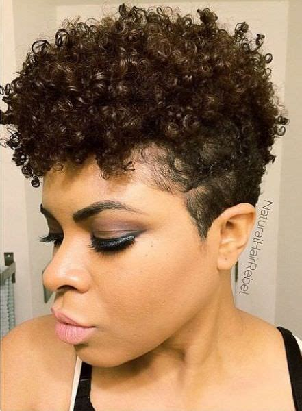 tapered sides with curls short natural tapered hair cut