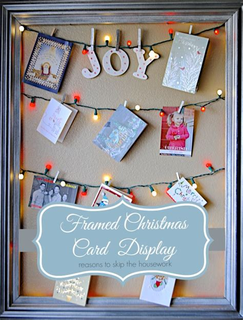 how to display christmas cards framed christmas card display
