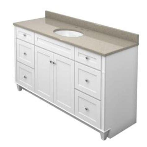 kraftmaid bathroom cabinets catalog kraftmaid 60 in vanity in dove white with natural quartz