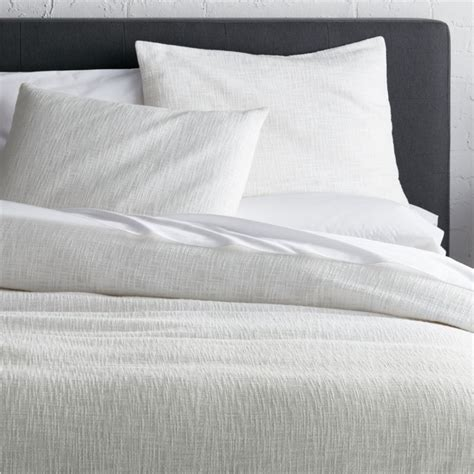 bettdecke textur lindstrom white duvet covers and pillow shams crate and