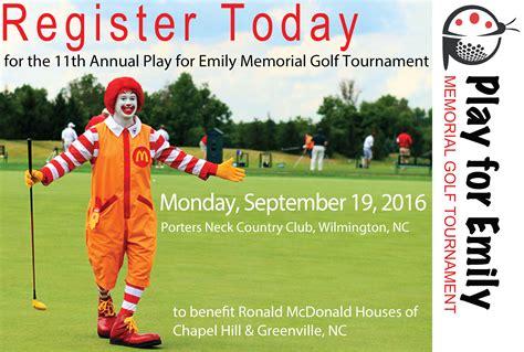 2016 play for emily memorial golf tournament ronald
