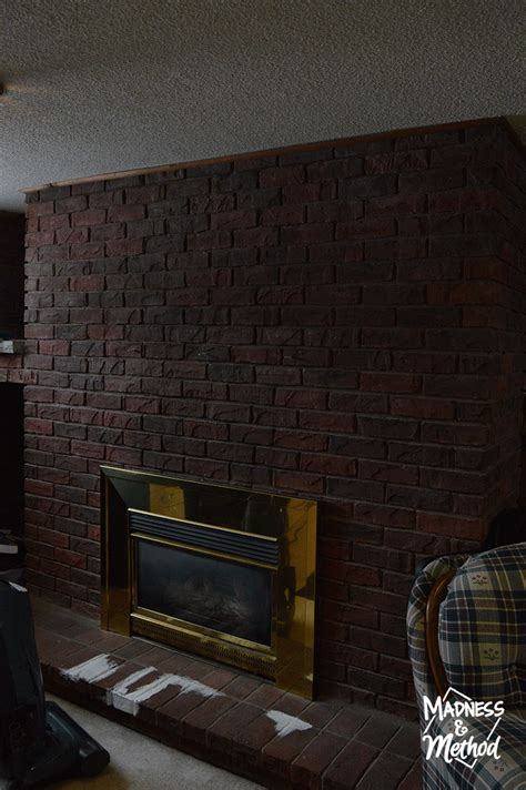 Replace Brick Fireplace With by Brush Bricks Fireplace Makeover Madness Method