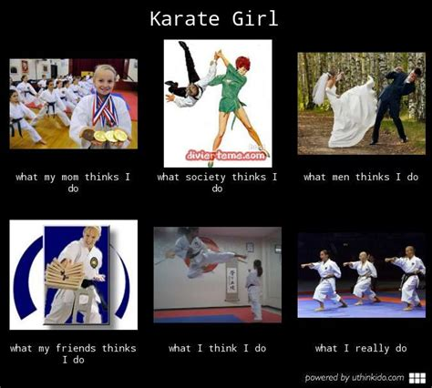 Kickboxing Meme - karate girl what people think i do what i really do