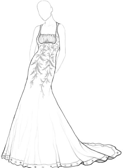 fashion design of dresses coloring pages