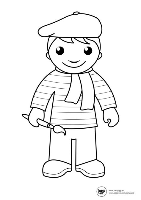 preschool coloring pages community workers 18 best occupation printables for preschool images on