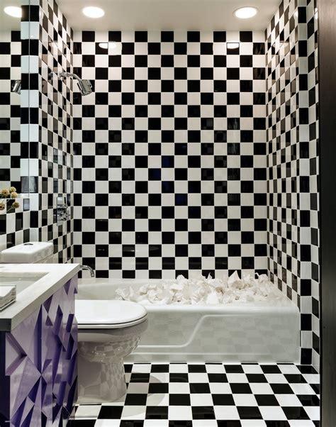 Ordinaire Salle De Bain Classique Chic #7: faience-damier-noir-blanc-andree-putman.jpg