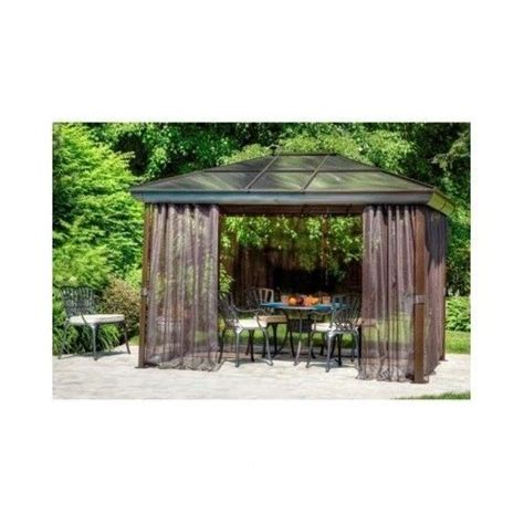 metal patio gazebo steel aluminum outdoor top pergola