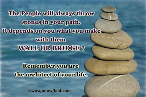 from to reving our thinking perfecting our path books best quotes the will always throw stones in your