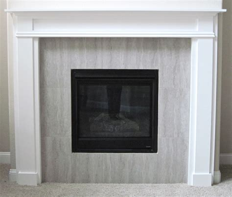 How To Build Fireplace Mantel And Surround by White Fireplace Mantel And Surround Diy Projects