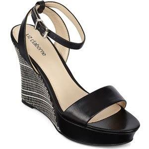 liz claiborne anya ankle wedge sandals polyvore