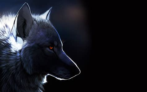 wolf with wolf with glowing wallpapers and images wallpapers