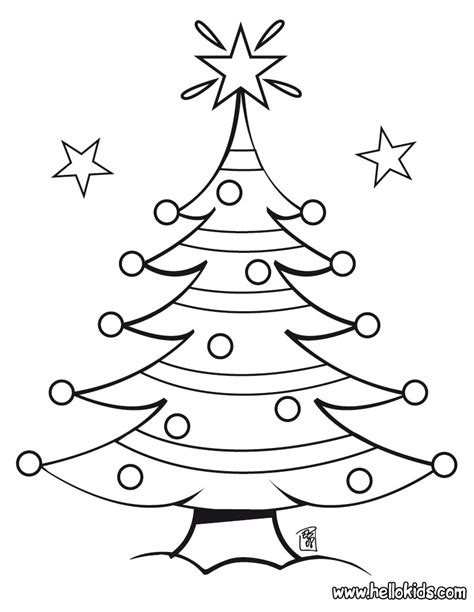 Presents Coloring Page tree coloring pages free printable pictures