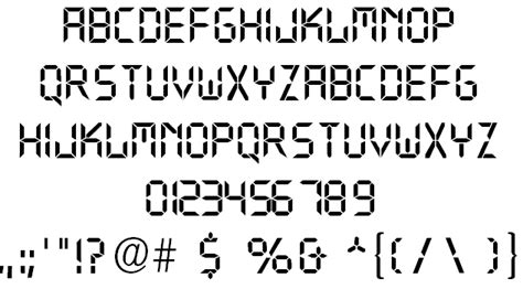 printable digital font digital font by coding4web com fontspace