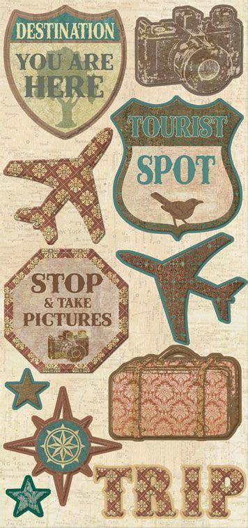Scrapbook Travel Album Discover New Zealand by Creative Imaginations Trip Travel Chipboard Scrap