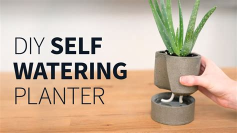 self watering planter self watering pot self watering planter diy self watering concrete planter how to youtube
