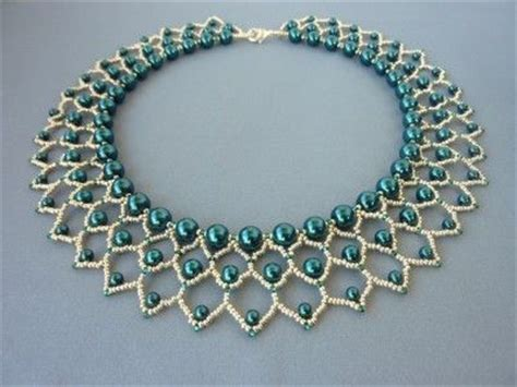 different bead designs free beading pattern for pearl petals necklace woven