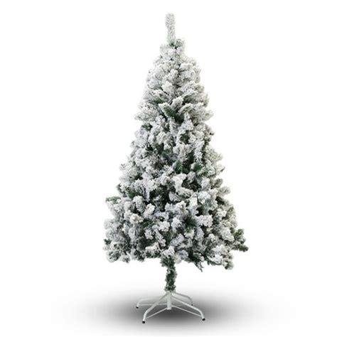 7 ft snow white snowcrest pine christmas tree 15 gorgeous flocked trees for any budget lovely etc