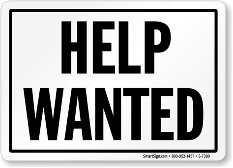 help wanted template store signs retail store signs